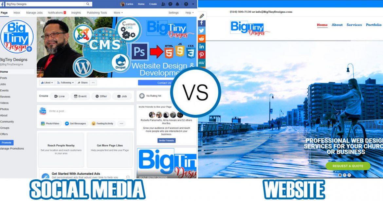 BigTinyDesigns Social Media vs Website