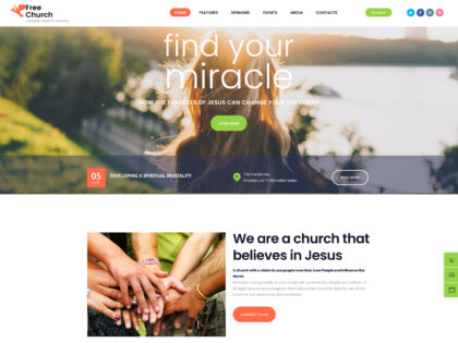 Find Your Miracle Church Theme