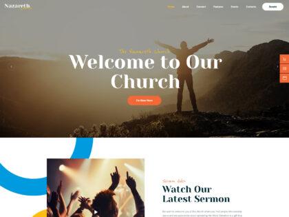 Nazareth non-profit Church Theme