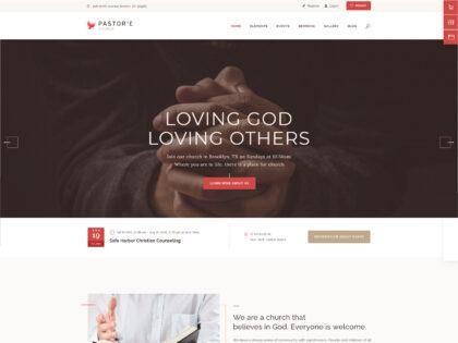 Pastor'e non-profit Church Theme