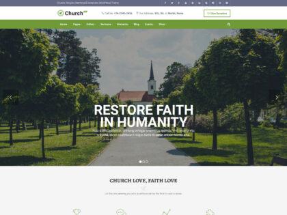 Restore Faith In Humanity Church Theme